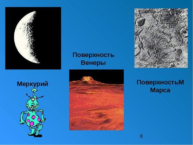 Меркурий Поверхность Венеры ПоверхностьММарса