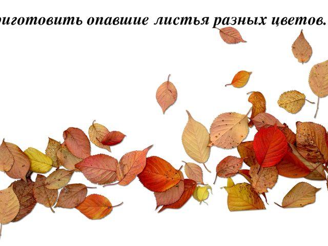 2. Приготовить опавшие листья разных цветов.