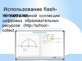 Использование flash-анимации На сайте единой коллекции цифровых образовательн