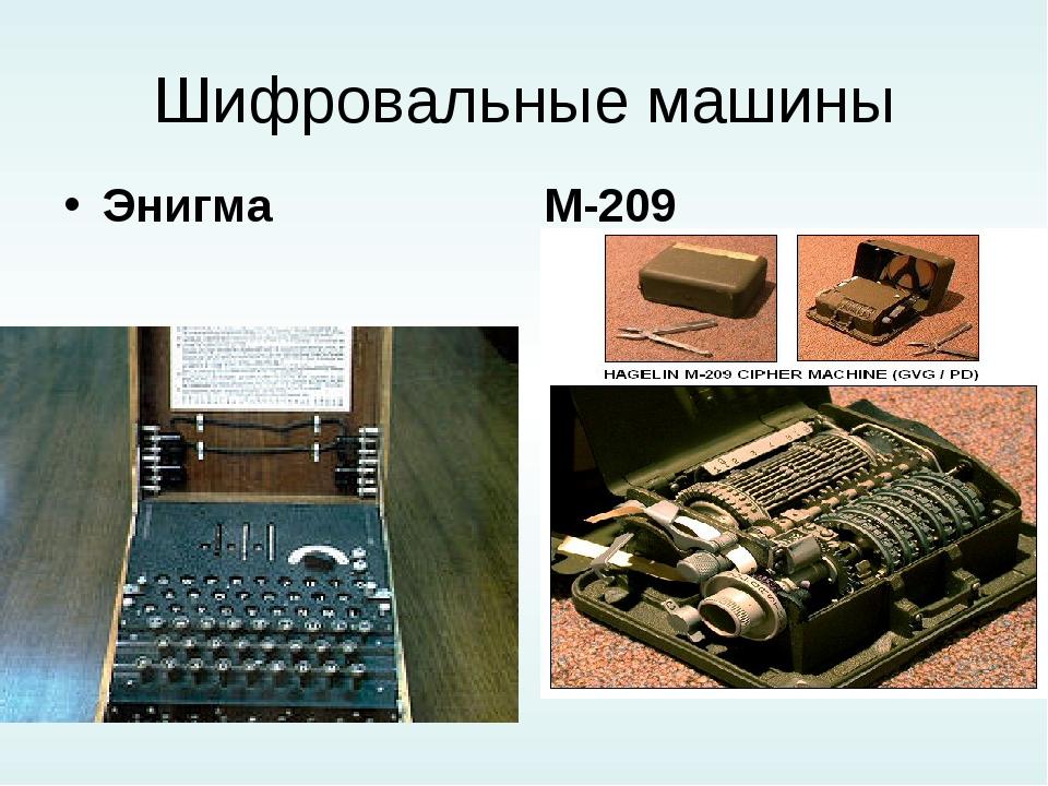 Шифровальные машины Энигма М-209