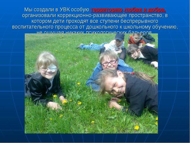 Мы создали в УВК особую территорию любви и добра, организовали коррекционно-р...