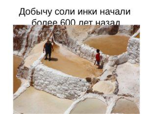 Добычу соли инки начали более 600 лет назад