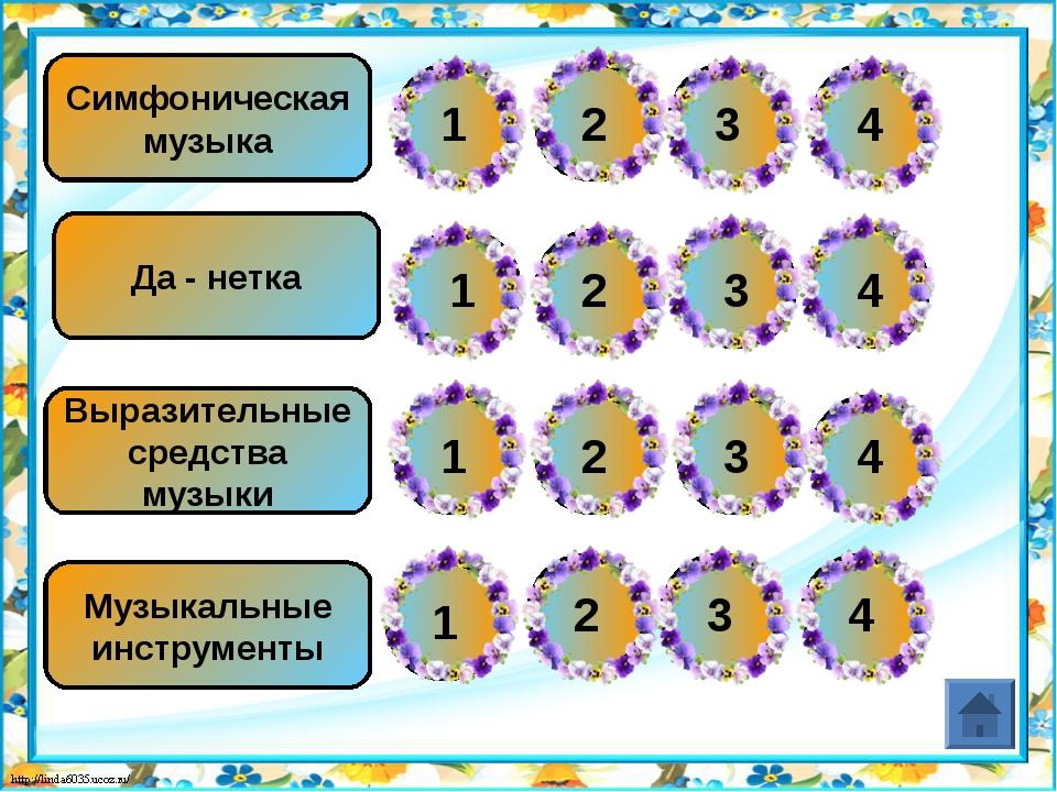 Да - нетка Музыкальные инструменты Выразительные средства музыки Симфоническа...