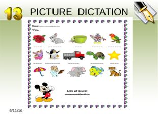 PICTURE DICTATION