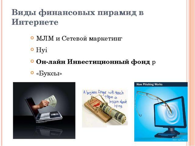 Виды финансовых пирамид в Интернете МЛМ и Сетевой маркетинг Hyi Он-лайн Инвес...