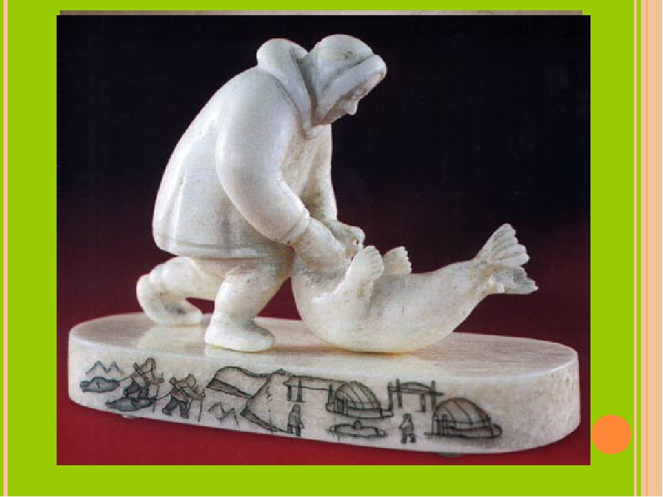 Uelen carved bone (уэленская резная кость) is a kind of folk art from north-e...