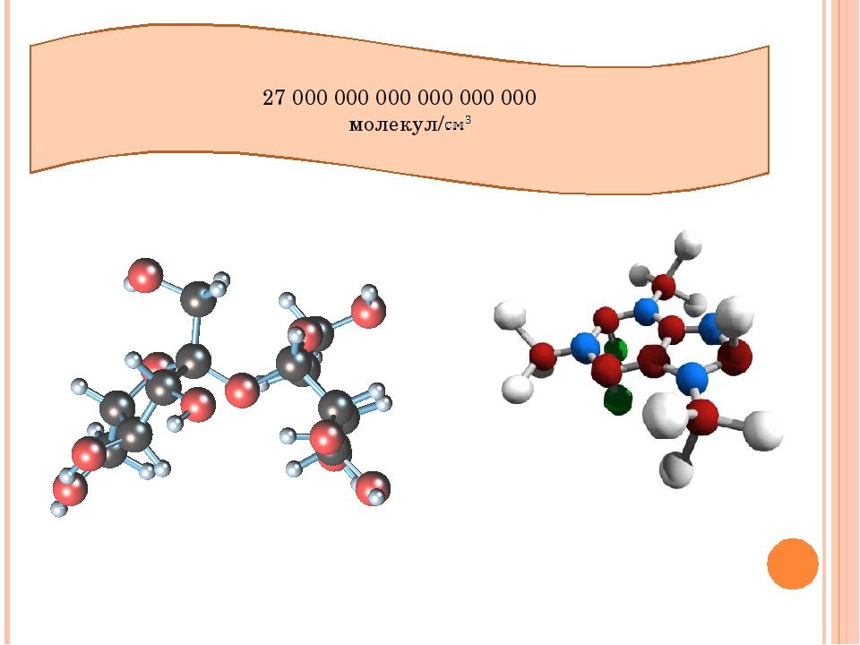 27 000 000 000 000 000 000 молекул/
