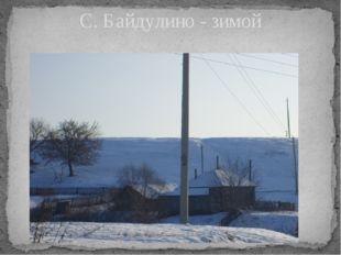 С. Байдулино - зимой