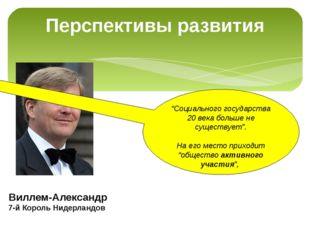 """Перспективы развития Виллем-Александр 7-й Король Нидерландов """"Социального гос"""