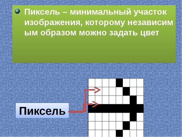 Пиксель – минимальный участок изображения, которому независимым образом можн...