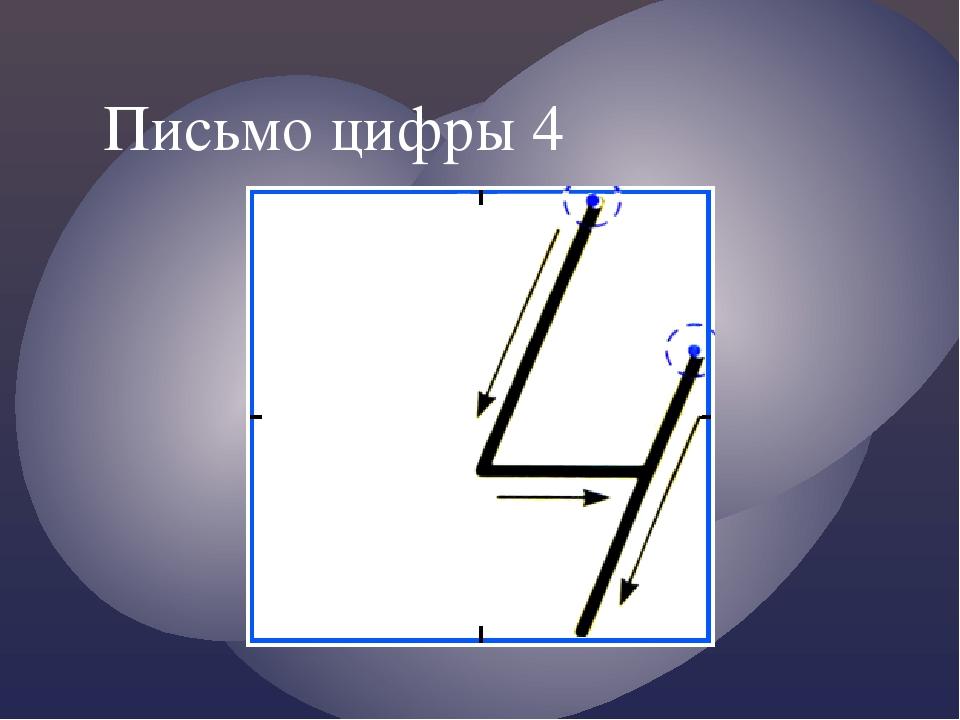 Письмо цифры 4