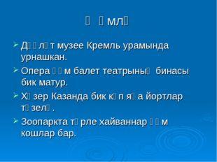 Җөмлә Дәүләт музее Кремль урамында урнашкан. Опера һәм балет театрының бинасы