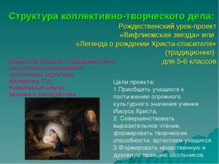 Структура коллективно-творческого дела: Рождественский урок-проект «Вифлиемск