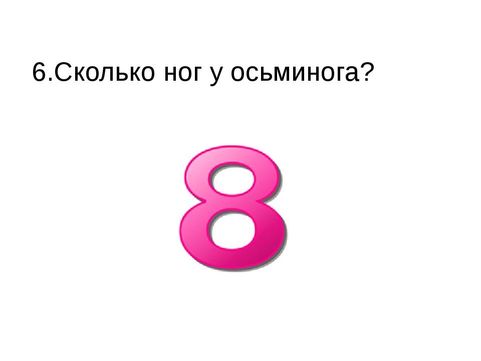 6.Сколько ног у осьминога?