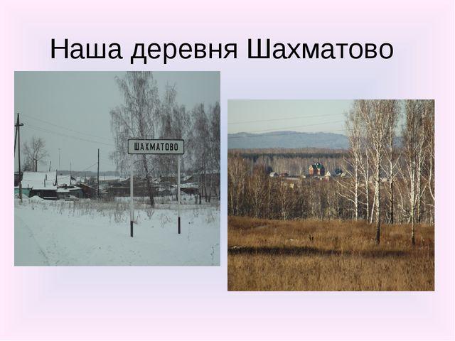 Наша деревня Шахматово