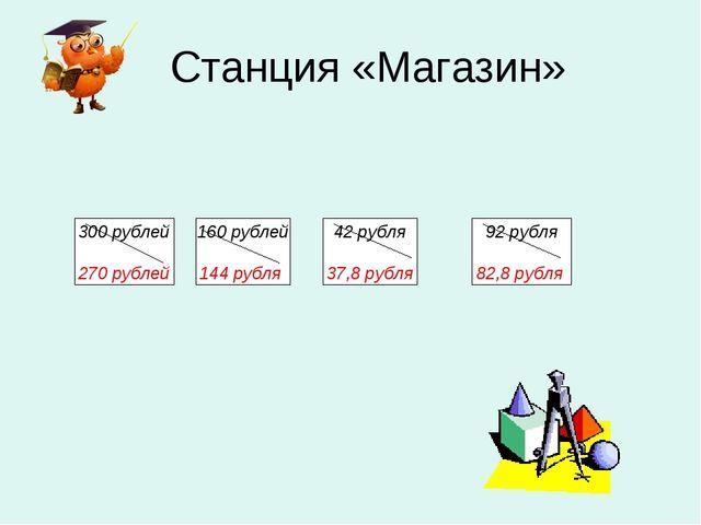 Станция «Магазин» 160 рублей 144 рубля 42 рубля 37,8 рубля 92 рубля 82,8 руб...