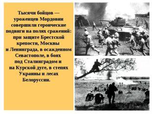 Тысячи бойцов — уроженцев Мордовии совершили героические подвиги на полях ср