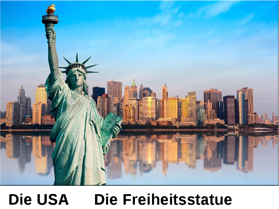 Die USA Die Freiheitsstatue