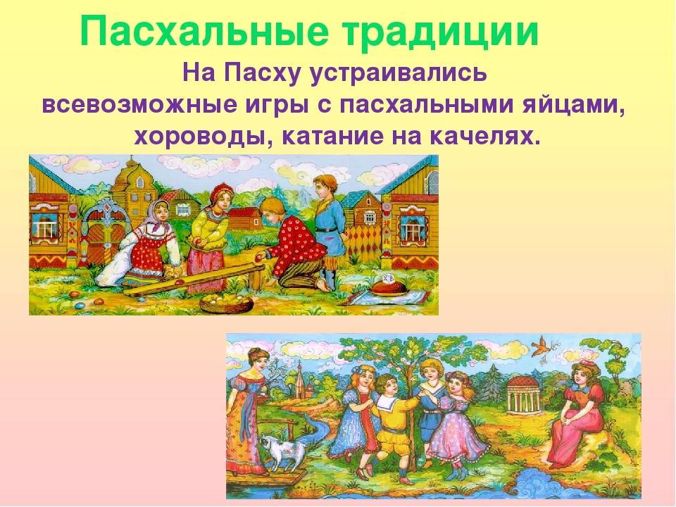 Пасхальные традиции На Пасху устраивались всевозможные игры с пасхальными яйц...