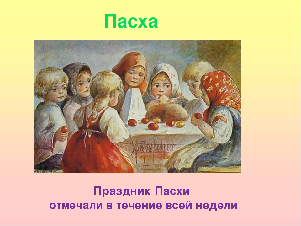 Пасха Праздник Пасхи отмечали в течение всей недели