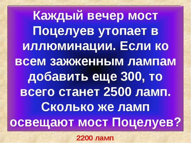 П О Ц Е Л У Й 2200 ламп 14 + 60У230 – 115Е 21 ∙ 6П450 + 105Л 240 : 3Й...