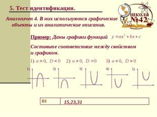 5. Тест идентификации. Аналогичен 4. В них используются графические объекты и