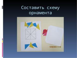 Составить схему орнамента