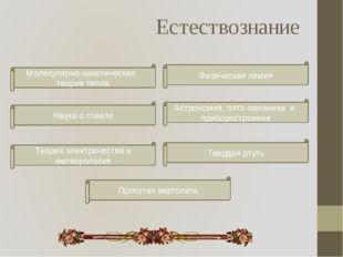 Естествознание Физическая химия Молекулярно-кинетическая теория тепла Астроно