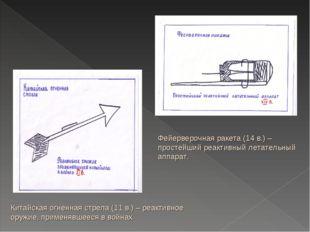 Китайская огненная стрела (11 в.) – реактивное оружие, применявшееся в войнах