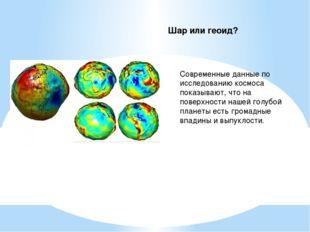 Шар или геоид? Современные данные по исследованию космоса показывают, что на