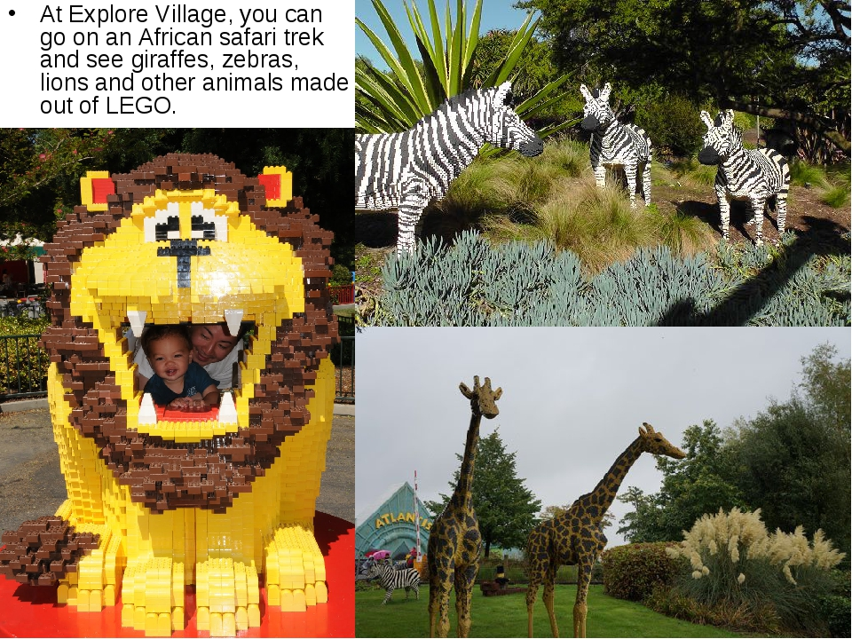 At Explore Village, you can go on an African safari trek and see giraffes, ze...