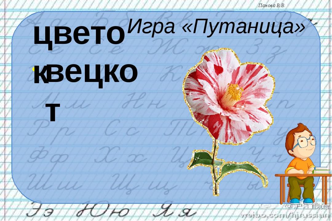 Игра «Путаница» вецкот цветок Панова В.В.