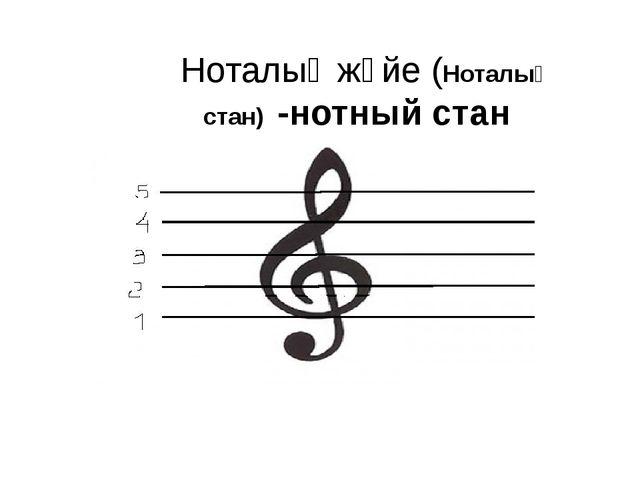 Ноталық жүйе (Ноталық стан) -нотный стан