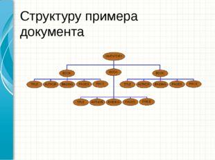Структуру примера документа Образец заголовка