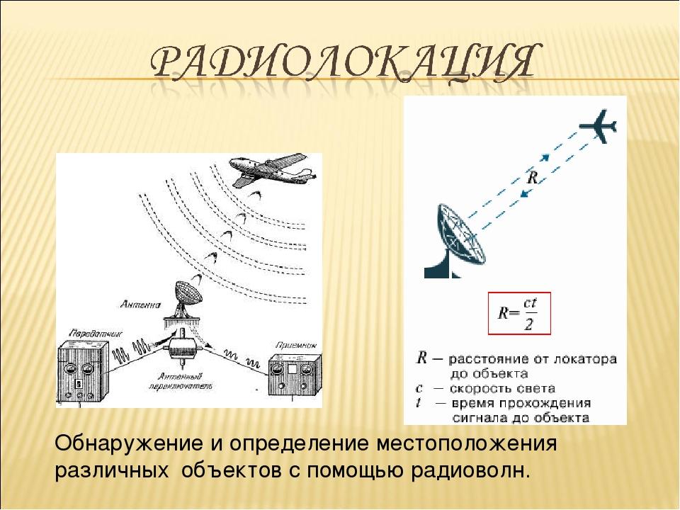 Обнаружение и определение местоположения различных объектов с помощью радиово...