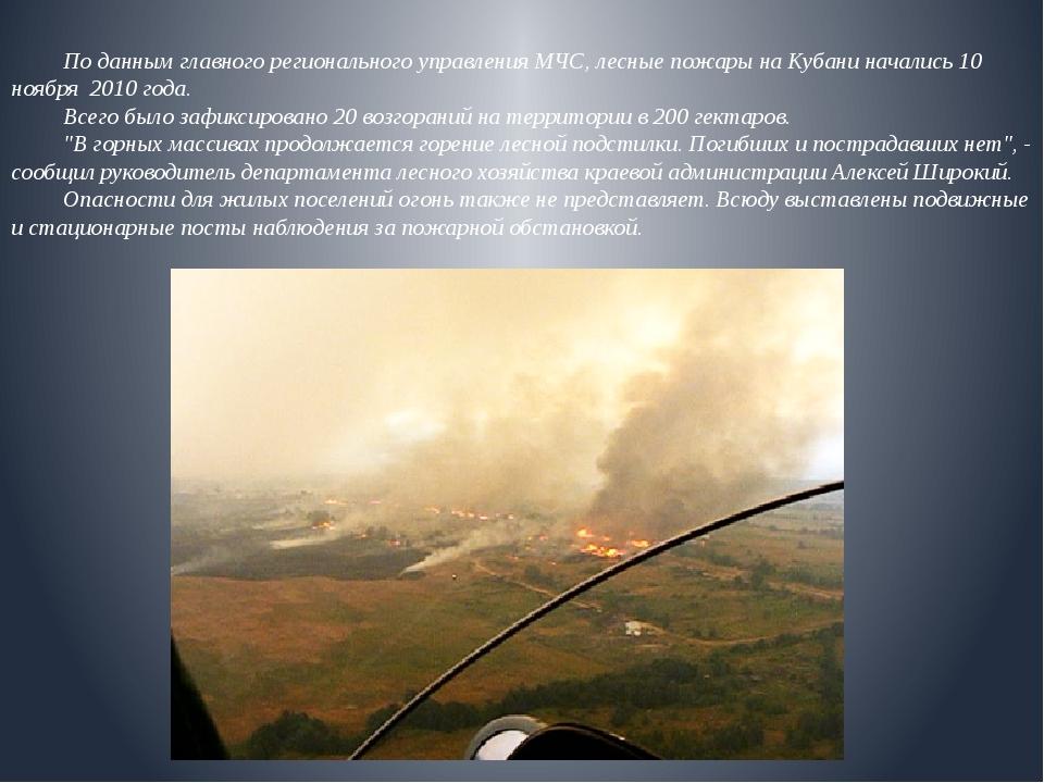 По данным главного регионального управления МЧС, лесные пожары на Кубани на...