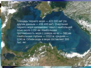 * http://aida.ucoz.ru * Площадь Чёрного моря— 422000 км² (по другим данным