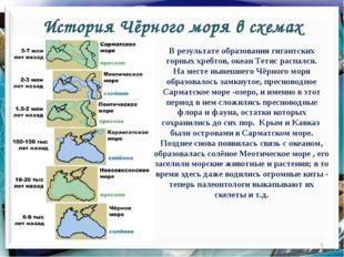 История Чёрного моря в схемах * В результате образования гигантских горных хр