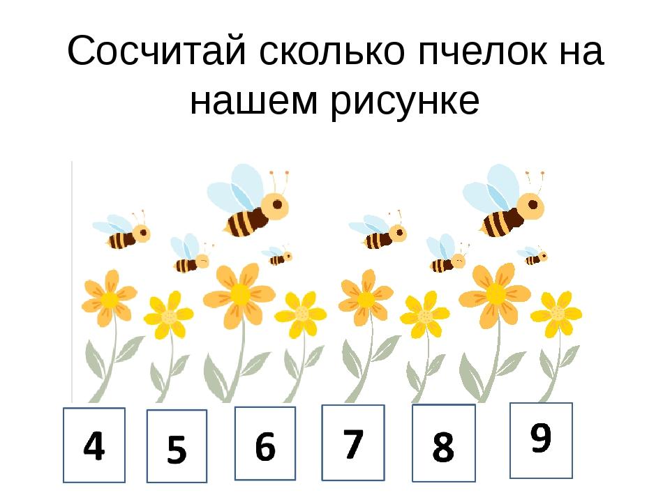 Сосчитай сколько пчелок на нашем рисунке