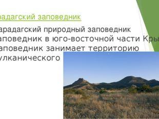 Карадагский заповедник Карадагский природный заповедникзаповедникв юго-вост