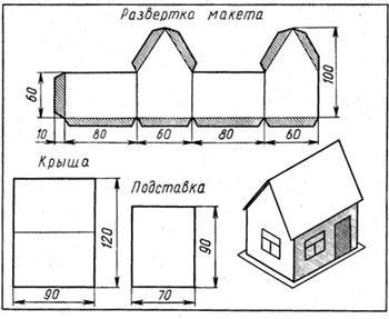 Сделать дом из картона своими руками схемы