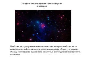 Загадочная и невидимая темная энергия и материя Наиболее распространенными ко
