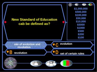 New Standard of Education cab be defined as? mix of evolution and revolution