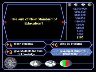 The aim of New Standard of Education? teach students give students the sum of