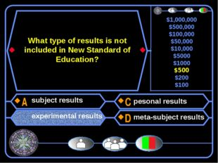 What type of results is not included in New Standard of Education? subject re