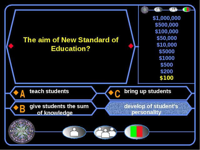 The aim of New Standard of Education? teach students give students the sum of...