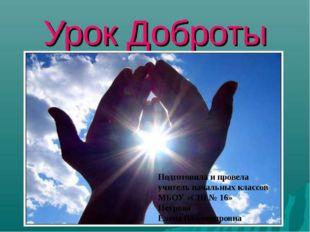 Подготовила и провела учитель начальных классов МБОУ «СШ № 16» Петрова Елена