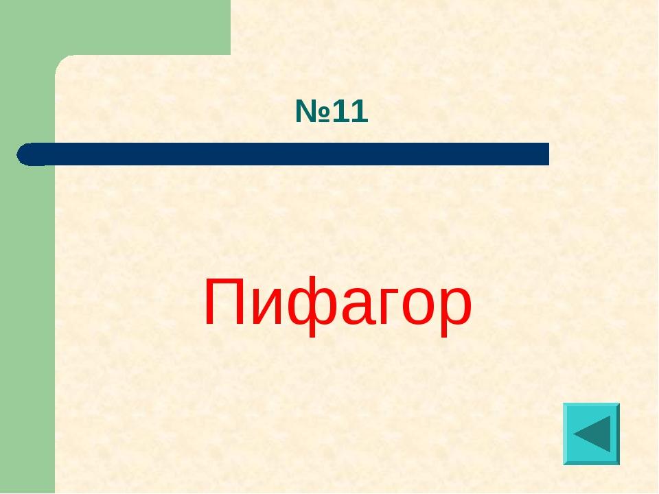 №11 Пифагор