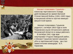 Михаил Алексеевич Гурьянов – комиссар партизанского отряда, действовавший во