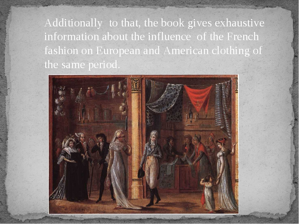 Additionally to that, the book gives exhaustive information about the influen...